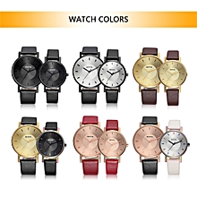 Fashion Luxury Quartz Couple Watches Water-Proof PU Leather Lovers Watch Men Women Casual Wristwatch