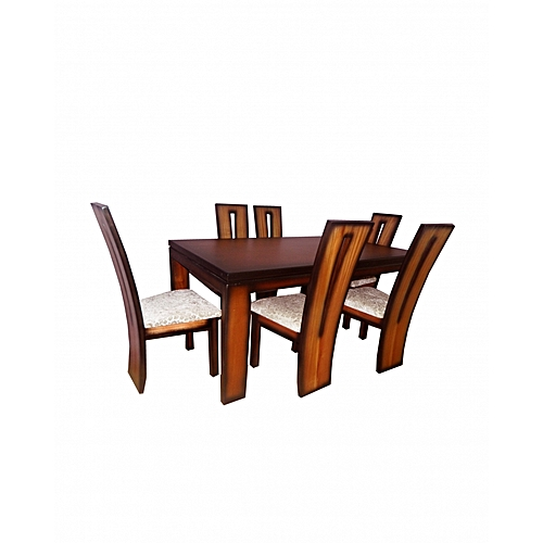 a70442aabaab9 Generic Makwembe Dining Table with 6 Chairs - 104 x 183 x 76 - Mahogany