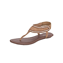 Women's Brown Evening Sandals