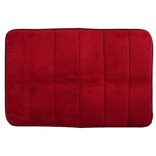 4pcs 40cmx60cm Memory Foam Rug Mat Bathroom Bedroom Non Slip Mats Shower Carpet Wine Red