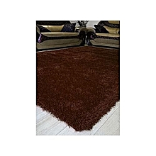 Luxury Soft,Non-skid,Shaggy Carpet/Rug- 5 by 7ft- Chocolate Brown