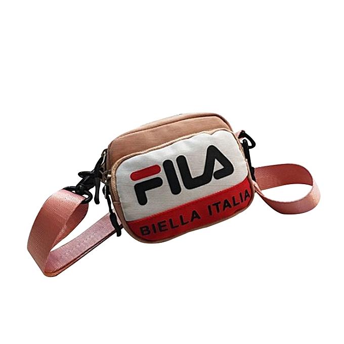 76624ec9a9b8 Generic FILA Fashion Shoulder Bag Crossbag All-match Square Shape  Adjustable Strap Nylon Single-shoulder Bag