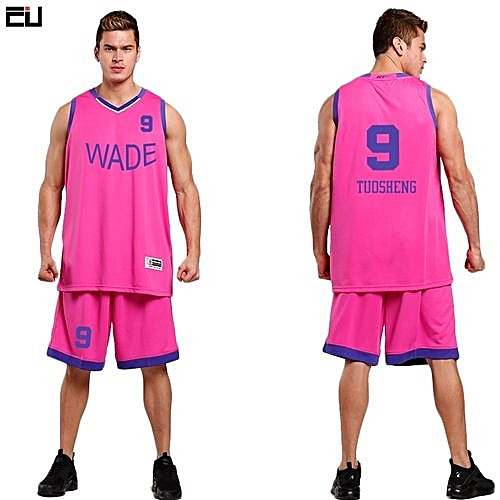 662105640 Longo High Quality Men s Customized Basketball Team Sports Jersey Uniform- Pink(L-1632)