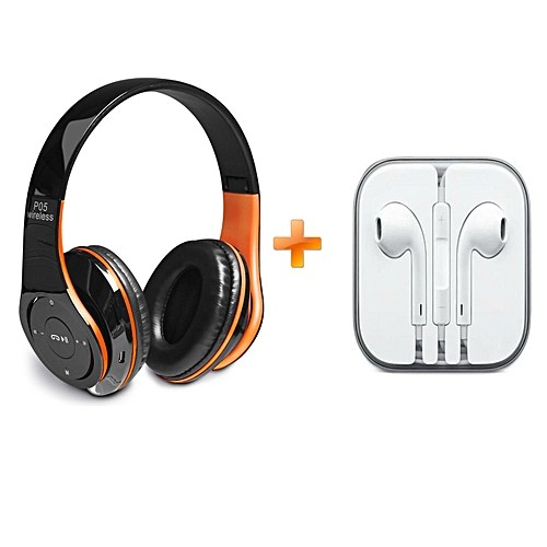 49e8964e18c Generic P05 Wireless Bluetooth 4.2 Stereo Headphone - Orange @ Best ...