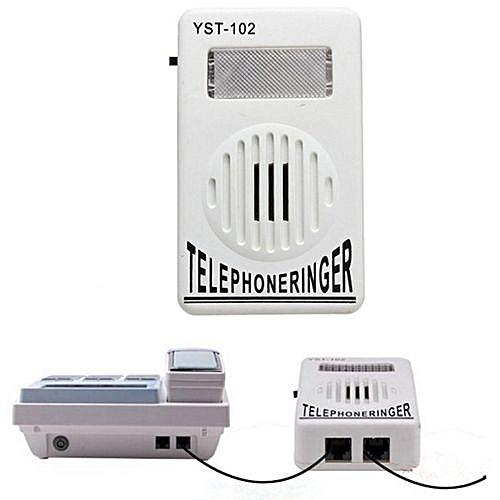 Phone Telephone Ringer Up To 95dB W/ Strobe Light Flasher Extra-Loud Bell Ringer