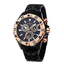 NORTH Africashop Watch  North Calendar Quartz Wrist Watch Stainless Steel Bracelet Men Watch-Rose Golder