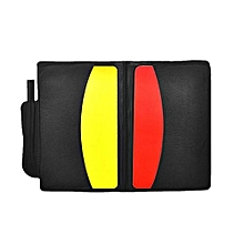 Yellow Red Card Booklet Colorful PVC With Pencil Equipment Pro Football Referee Case Sport Soccer