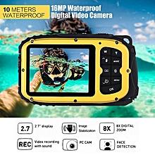 "Digital Video Camera 16MP 2.7"" LCD Waterproof Mini Camcorder DV Underwater Diving 8X Digital Zooming Face Detection LOOKFAR"