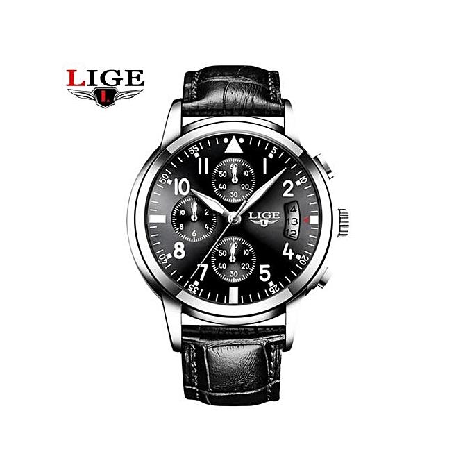 d8b1c309213 Relogio Masculino LIGE Mens Watches Top Brand Luxury Fashion Business  Quartz Watch Men Sport Full Steel