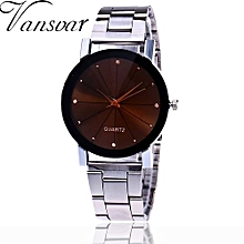 Fohting  Vansvar Women's Casual Quartz Stainless Steel New Strap Watch Analog Wrist Watch -Sliver
