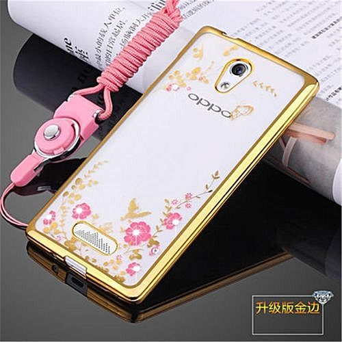 save off 64a53 80f9c Rhinestone Phone Case Cover Holder Stand Protective Ultra-thin Silicone  Soft Case For Oppo R2001 Yoyo /Oppo R2017/R2010 4.7