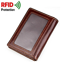 Mens RFID Blocking Slim Front Pocket Wallet Credit Card Holder