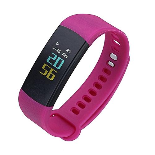 Waterproof Smart Wristband Watch Heart Rate Monitor Blood Pressure Tracker  Sport (Purple) WANKAI