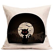 Happy Halloween Pillow Cases  Linen Sofa Cushion Cover Home Decor G