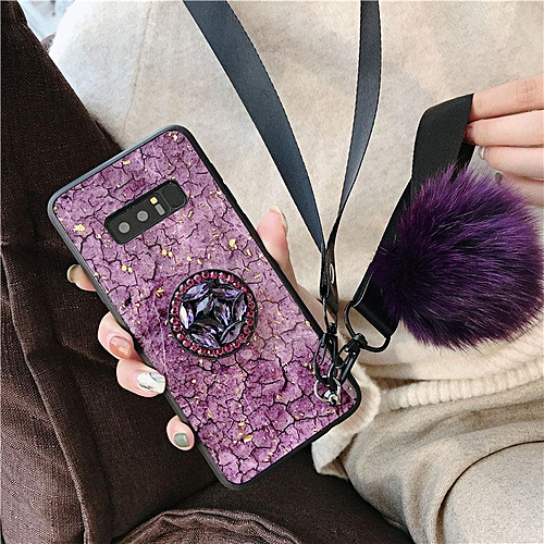 promo code 71768 06e81 Galaxy Note 8 Case Luxury Fashion Female Lady Phone Cases Rhinestone Stand  Hair Ball Soft Cover Green Purple Girl Housing For Samsung Galaxy Note8 ...