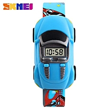 Car Children Watches Fashion Casual Cartoon Digital Sport Watch For Boy Girl Student Kids Wristwatches(Blue)