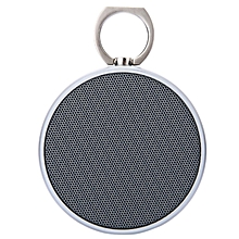 BS-02 - Wireless Portable Metal Bluetooth Speaker With Microphone- Silver