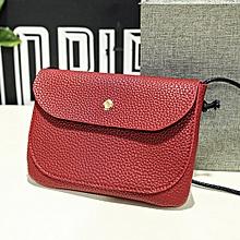 Women's Leather Messenger Bags Crossbody Shoulder Bag Red