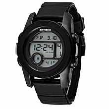 ABS Materia Young People Watches Sports Waterproof Electronics Watch(Black)