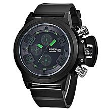 Mens Fashion Silica Sport Date Chronograph Analog Quartz Wrist Watch Waterproof
