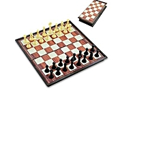 Mini Magnetized Chess Board-24 pieces- Hard Plastic
