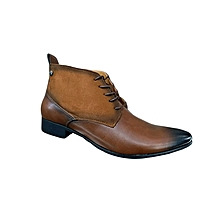 Brown Quality Urban Look Men's Official And Casual Boots