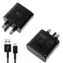 Micro USB Cable + Charger for Samsung - Black