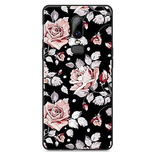 check out b1cc9 b3802 Cartoon Printing Case For Oneplus 6 Cases Soft Back Cover For Oneplus 6  Shockproof Casing (Black)