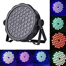 3W x 54 LED PAR Light Stage Light with LED Display, Master / Slave / DMX512 / Auto Run / Sound Control Modes, US/EU Plug