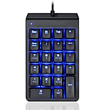 Motospeed K22 22 Key Wired Mini Mechanical Numeric Keypad Backlit Numeric Keyboard Red Switch