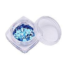 bluerdream-1pcs Colors Nail Art Tips Stickers Acrylic 3D Glitter Sequins Manicure DIY-Colorful