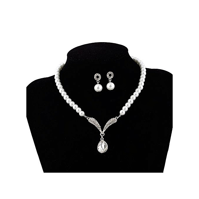 de721c89a916c7 Necklaces Hot Sale Fashion Charm Jewelry Pendant Faux Pearl Rhinestones  Necklace And Earrings Set Bridal Jewelry