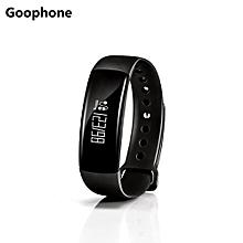 Goophone M88 Smart Bracelet Blood Pressure Heart Rate Tracker Wristband BLACK