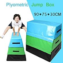 Foam PVC Soft Plyo Box Plyometric Jump Box Body Exercise Health Fitness Jumping 90x75x90