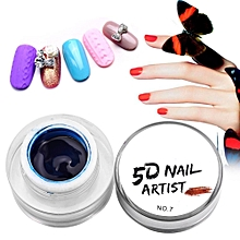 Salon Multichrome 3D Relief Drawing Pigment Nail Art UV Gel Polish Blue