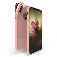 DUX DUCIS MOJO Series Shockproof Magnetic Carbon Fiber TPU Case for iPhone X / XS (Pink)