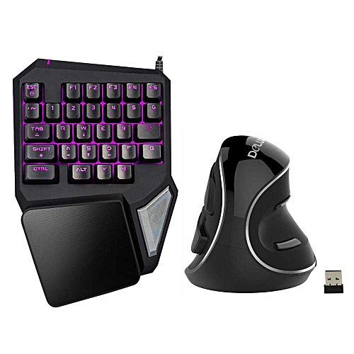 Delux T9 Pro Gaming Keyboard Wired Professional Keyboard Single Hand Keypad  Ergonomic Vertical Mouse Mice Computer Gaming Mouse