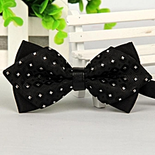 bluerdream-Fashion Men Bowtie Bow Ties Accessories Tie Bowtie - Black