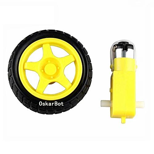 Smart Car Robot Gear Motor supporting wheels motor robot car wheels yellow