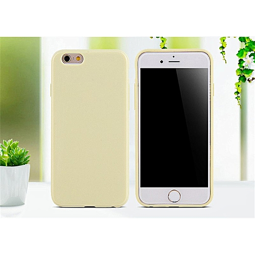 c582d6f0c6 Generic for iphone 8 Plus case Phone Case Luxury Soft Silicone Ultra Slim  TPU smooth Cute Candy Cover-Light yellow