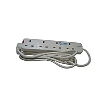 New Heavy Duty For Ironing And Water Heating 4-Way Extension Cable - White