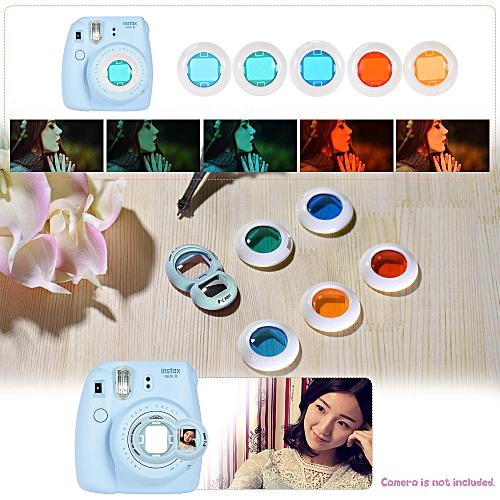 0d6b4f2eae90b0 Generic 10 in 1 Accessories Kit for Fujifilm Instax Mini 8 8+ 8s 9 Include Camera  Case Strap Selfie Mirror Filter Album Corner Sticker Photo Frame Photo ...