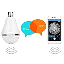 Wireless Camera Bulb 360 Degree Panoramic View- White