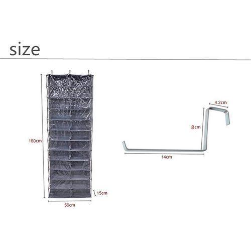 26 Pair Over Door Hanging Shoe Rack Shelf Storage Stand Organiser Pocket Holder Beige