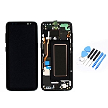 LCD Display Touch Screen Digitizer & Frame Replacement Assembly for Samsung S8 black