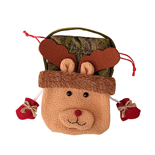 Allwin Nonwoven Fabric Children Kids Halloween Cartoon Drawstring Candy Gift Bag Brown Best Price