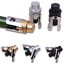 Stainless Steel Champagne Wine Stopper Gold/Silver Sparkling Wine Bottle Plug Sealer Wings