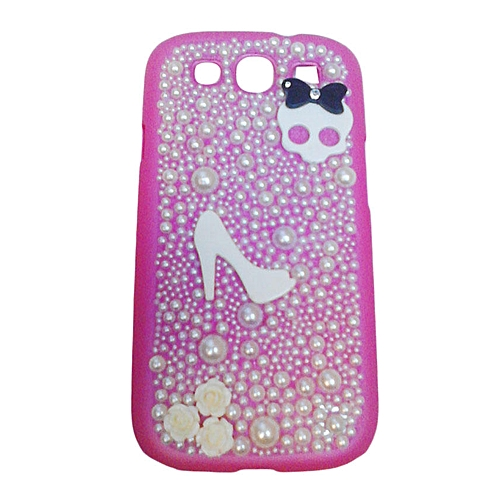Kawaii 254 Samsung S3 Phone Case With Decorations Pink Best