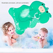Anti-Skid Soft Infant Bathing Cushion Elastic Baby Shower Spine Supporting Pillow