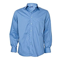 Blue Slim Fit Long Sleeved Shirt